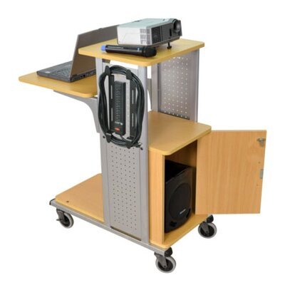 AmpliVox Sound Systems Mobile Presentation Station in Nickel