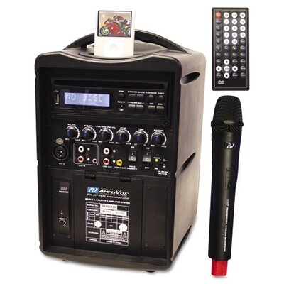 AmpliVox Sound Systems IPod Wireless PA System in Black