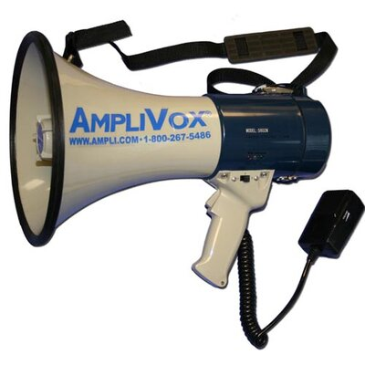 AmpliVox Sound Systems MityMeg 25W Piezo Dynamic Megaphone