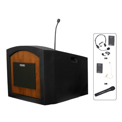 AmpliVox Sound Systems Pinnacle Tabletop Wireless Sound Lectern