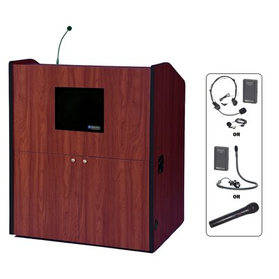AmpliVox Sound Systems Wireless-Sound Wide-Multimedia Lectern