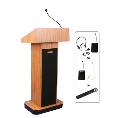 AmpliVox Sound Systems Full-Height Wireless Sound Column Lectern