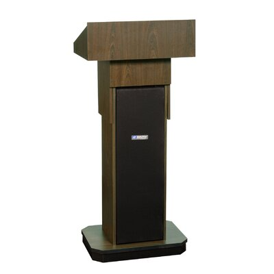AmpliVox Sound Systems Adjustable Full-Height Column Lectern