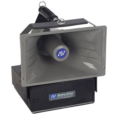 AmpliVox Sound Systems Wireless Powered Companion 50 Watt Hailer with Speaker