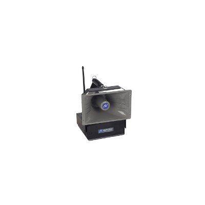 AmpliVox Sound Systems Wireless Powered 50 Watt Hailer with Speaker