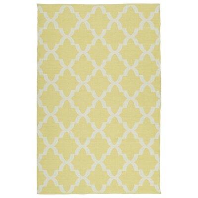 brisa yellow white indoor outdoor area rug wayfair. Black Bedroom Furniture Sets. Home Design Ideas