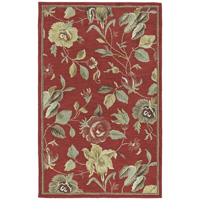 Kaleen Rug Co. Khazana Savannah Red Floral Rug