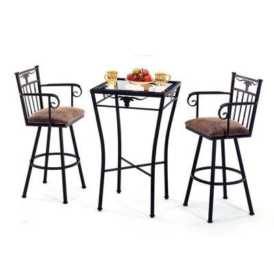 3 Piece Longhorn Counter Height Pub Set
