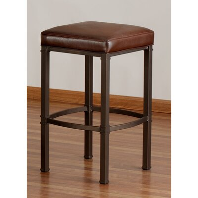 "Tempo Hallmark 26"" Stationary Bar Stool with Cushion"