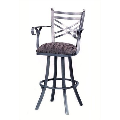 "Tempo New Rochelle 26"" Stool w/ Arms"