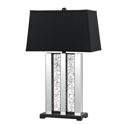 "Cal Lighting Mirrored 30.5"" H Table Lamp"