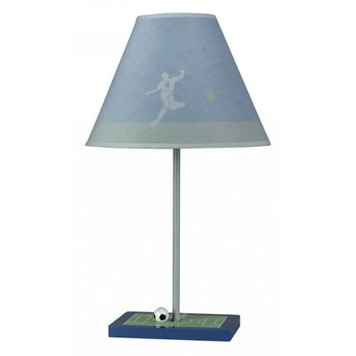 Cal Lighting Soccer Table Lamp with Striped Hardback Shade