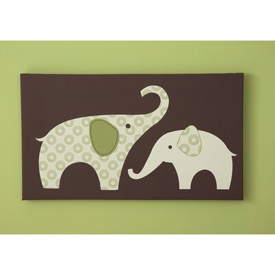 Carter's® Green Elephant Canvas Wall Art