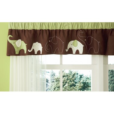 Carter's® Green Elephant Curtain Valance