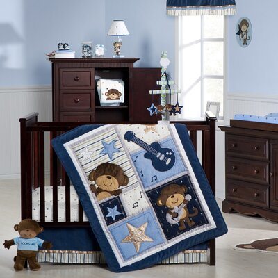 Carter's Monkey Rockstar Crib Bedding Collection