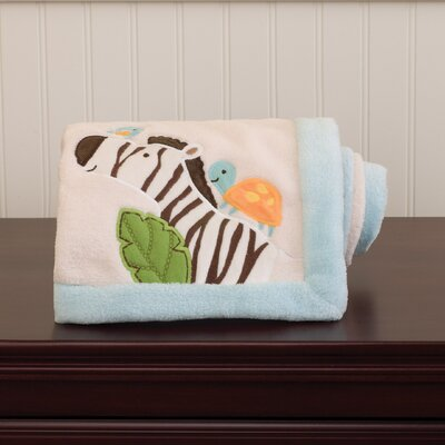 Carter's Jungle Play Embroidered Boa Blanket