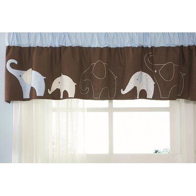 Carter's® Blue Elephant Curtain Valance