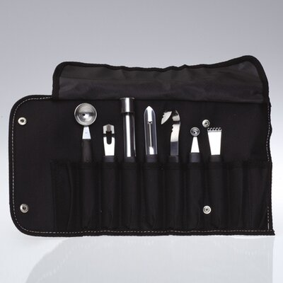 BergHOFF International 8 Piece Garnishing Set with Carrying Pouch