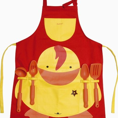 BergHOFF International Sheriff Duck 5 Piece Apron with Kitchen Utensils