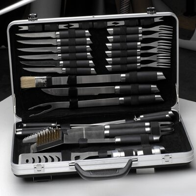 BergHOFF International Gemini 33 Piece Barbecue Set with Case