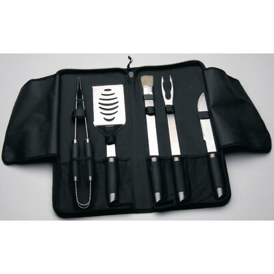 BergHOFF International Geminis 6-Piece BBQ Set Travel Wrap