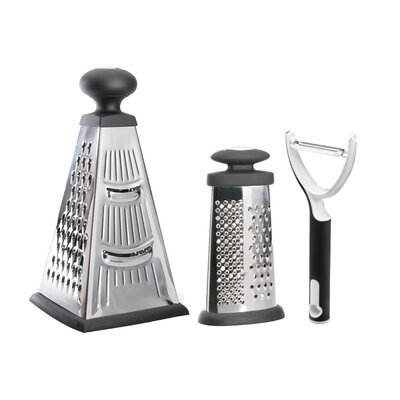 BergHOFF International Studio 2-Piece Grater Set with Peeler
