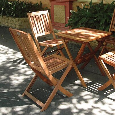 Glaser 3 Piece Folding Dining Set