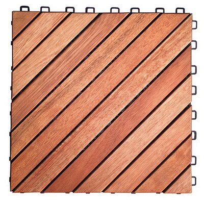 "Vifah Eucalyptus 11"" x 11"" Interlocking Deck Tiles"