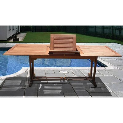 Vifah Airblade Rectangular Extension Dining Table