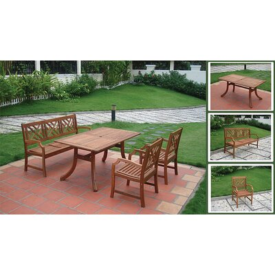 Vifah Atlantic 4 Piece Dining Set