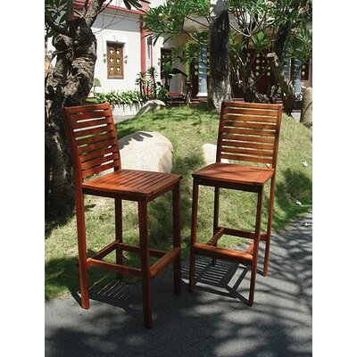 Vifah Dartmoor 3 Piece Bar Height Dining Set