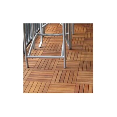 Vifah FSC-Certified FSC Eucalyptus Hardwood / 1 Box of 10 Tiles