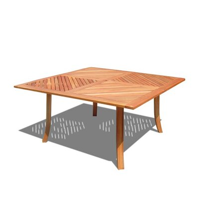Vifah Outdoor Wood Square Dining Table