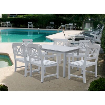 Vifah Bradley 7 Piece Dining Set
