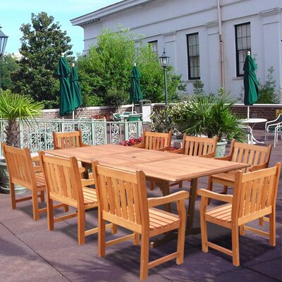 Vifah Patio 9 Piece Dining Set