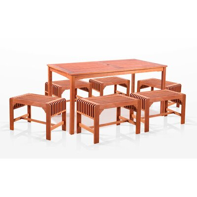 Vifah 7 Piece Dining Set