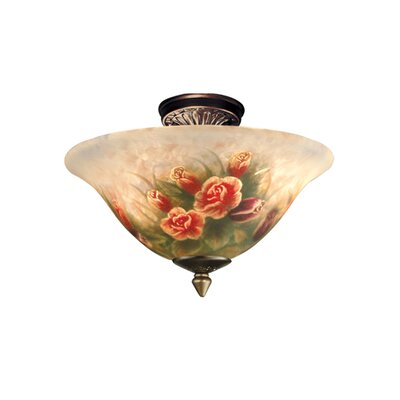 Dale Tiffany Rose Semi Flush Mount