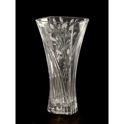 Dale Tiffany Crystal Leaf Vase