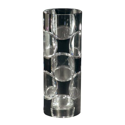 Rocky Crystal Vase in Black