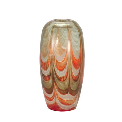Dale Tiffany Fire Dance Oval Vase