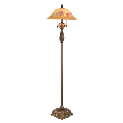 Dale Tiffany Brazilian Rose Floor Lamp