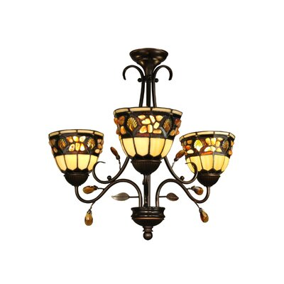 Dale Tiffany 3 Light Pebblestone Chandelier