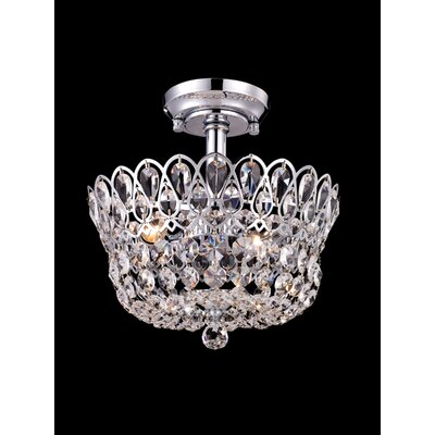 Dale Tiffany Brinkley 4 Light Semi Flush Mount