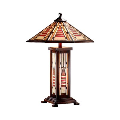 Dale Tiffany Woodruff 3 Light Table Lamp