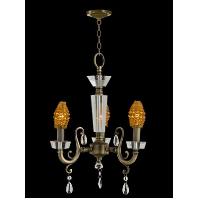Prato 3 Light Crystal Chandelier