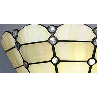Dale Tiffany Floral Series 1 Light Geometric Wall Sconce | Wayfair