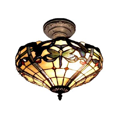 Dale Tiffany Cabrini 2 Light Semi-Flush Mount