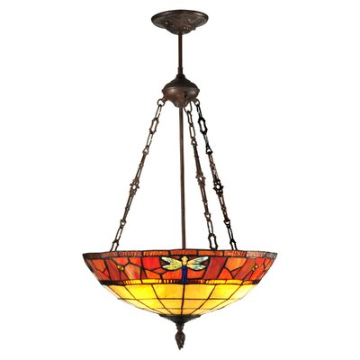 Dale Tiffany Genoa 3 Light Inverted Pendant
