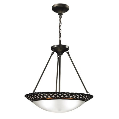 Dale Tiffany Hillcrest 3 Light Inverted Pendant