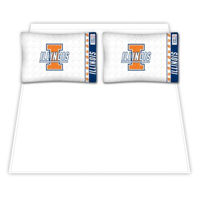Sports Coverage Inc. Illinois Fighting Illini Micro Fiber Sheet Set